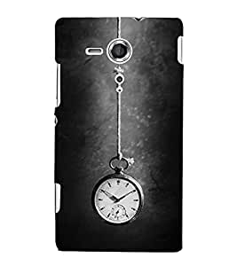 FUSON Hanging Watch Time 3D Hard Polycarbonate Designer Back Case Cover for Sony Xperia SP :: Sony Xperia SP HSPA C5302 :: Sony Xperia SP LTE C5303 :: Sony Xperia SP LTE C5306