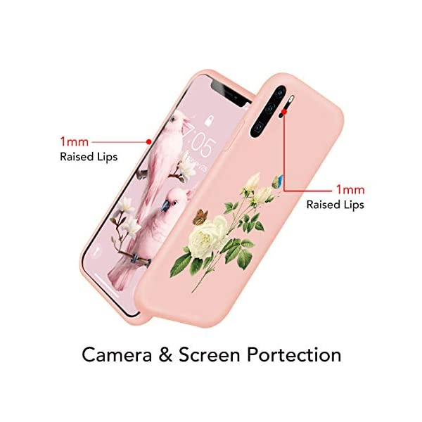 Oihxse Compatible with Huawei P20 Case Cover with Design, Soft TPU Back Shell [Anti-Slip] [Anti-Fade] [Support Wireless Charging] Slim Fit Pink Matte Texture Protective Bumper Skin-White Rsse Oihxse 🦜【Ultra-Thin & Slim Fit】Ultra-Slim design snugly fit for your Huawei P20 to bring [Sleek Look], [Stylish Charming] and [Great in-hand Feeling] due to the process with matte finish compliment with fashion pattern on the mobile phone case back-pink colour. 🦜【Support Wireless Charge】With precision cutouts of the Huawei P20, you can easy access to headphone jack, charger port, key mute, speakers, audio ports and buttons without the interference of [WiFi Reception], [Signal Reception], [Wireless Charging Performance], etc. 🦜【Anti-Fingerprint & Non-Fade Material】Crafted with soft anti-yellowing and non-fade TPU material with red frosted finish to provide you fingerprint resistant, anti-slip, daily scratches, bumps, drops and other daily damages. 4