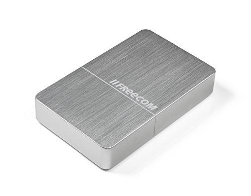 Freecom mHDD Desktop Drive, externe Festplatte mit USB 3.0, bis zu 5 GBit/s Übertragungsgeschwindigkeit, Silber -