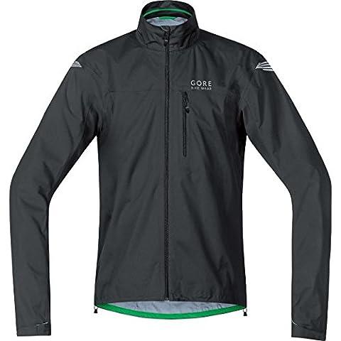GORE BIKE WEAR Herren Regen-Fahrradjacke, Super Leicht, GORE-TEX Active, ELEMENT GT AS Jacket, Größe: L, Schwarz, JGELEA