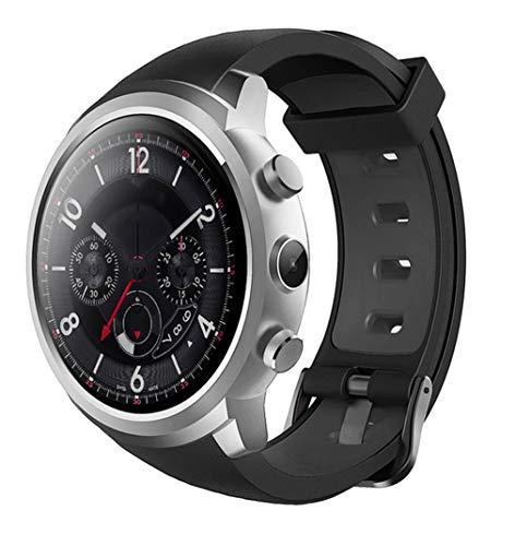 QHCGOOD Smart Watch, 512 MB + 8 GB Telefon MTK6580 Android Kamera Pulsmesser Bluetooth 3G GPS Schwarz Silver Gsm Quad-band-flash