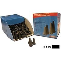 GIMA - Espéculo de oreja desechable mini 4 mm, color negro, totalmente compatible con mini series de HEINE, KAWE, RIESTER, GIMA y otras marcas – Paquete de 250 unidades