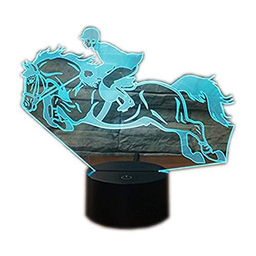 3D Illusion Lampen Reitsport 7 F...