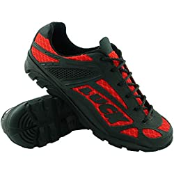 LUCK Chaussures de Cyclisme Predator 18.0, avec Semelle en EVA Idéal pour s'adapter à Tous Les terrains et à Toutes Les disciplines Sportives (47 EU, Rouge)