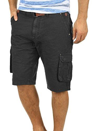 BLEND Renji Herren Cargo-Shorts kurze Hose mit Taschen aus 100% Baumwolle, Größe:L, Farbe:Black (70155)