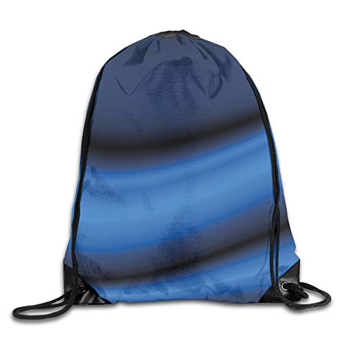 Color Rolling Band (YOWAKi Printed Drawstring Backpacks Bags,Abstract Wavy Curvy Bold Color Bands Soft Blurred Digital Ombre,Adjustable String Closure)