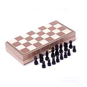Internationales Schachspiel Schachbrett-Schach-Satz, der magnetisches hölzernes Standardschach mit hölzernen in…