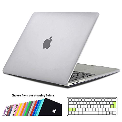 iNeseon MacBook Pro 15 Hülle Case 2018/2017/2016, Hartschale Cover mit EU Touch Bar and Touch ID Modell A1990/A1707, Frost Klar