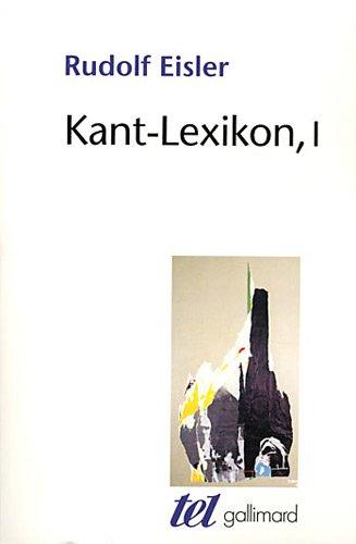 Kant-Lexikon (Tome 1)