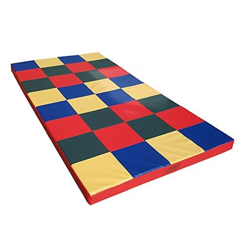 NiroSport Weichbodenmatte 200 x 100 x 8 cm Mosaik Spielmatte Gymnastikmatte Trainingsmatte Fitnessmatte Turnmatte Sportmatte Bodenmatte Schutzmatte Übungsmatte wasserdicht (ohne Würfeln)