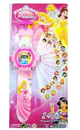 Worthy Shoppee Barbie Doll Projecter Pink Watch For Girls Gift Item For Kids  available at amazon for Rs.149