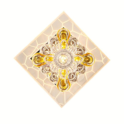 GRFH LED Decke Deckenleuchte Wohnzimmer Korridor Kristall Glas Decke Farbe Licht 5W 110V-220V Wide 18Cm * High 18Cm , colour