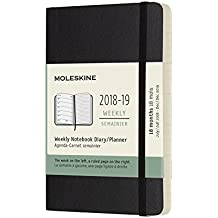 Moleskine Planner Diary 2019 18M Weekly Notebook Pocket Black Soft Cover