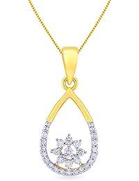 Malabar Gold And Diamonds 18KT Yellow Gold And Diamond Pendant For Women - B0777TFDLG