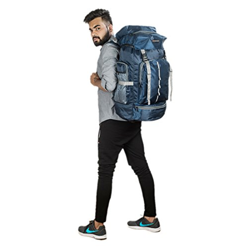 ece06663351 Indian Riders Lightweight Travel Hiking Rucksack Bag Navy Blue- 50 L ...