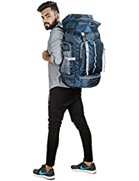 Indian Riders Lightweight Travel Hiking Rucksack Bag Navy Blue- 50 L
