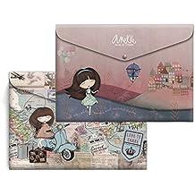 Anekke Pack 4 sobres A4 Polipropileno Liberty & Traveller