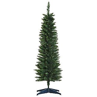 HOMCOM-Weihnachtsbaum-15-m-Christbaum-Kunsttanne-294-ste-zerlegbar-PVC-Grn-46-x-150-cm