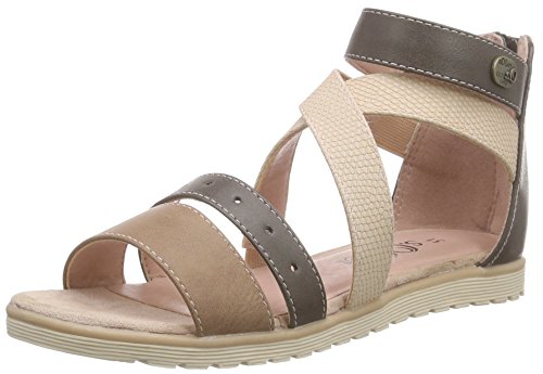 s.Oliver 48208, Sandales ouvertes fille Marron - Braun (PEPPER COMB. 392)