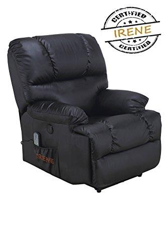 Poltrona massaggiante e relax manuale, d'alta gamma, mod. irene® nero