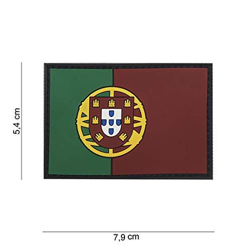 PVC Portugal Softair Sniper PVC Patch Logo Klett inkl gegenseite zum aufnähen Paintball Airsoft Abzeichen Fun Outdoor Freizeit (Portugal-logo)