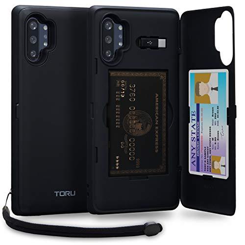 Serie CX PRO - Estuche de ranura para tarjeta oculta paraSamsung Galaxy Note 10 Plus La serie CX-Pro es un estuche multifuncional: Ocultando tus tarjetas en un moderno compartimento protector Incluye un espejo adhesivo, que puede fijarse a la parte p...