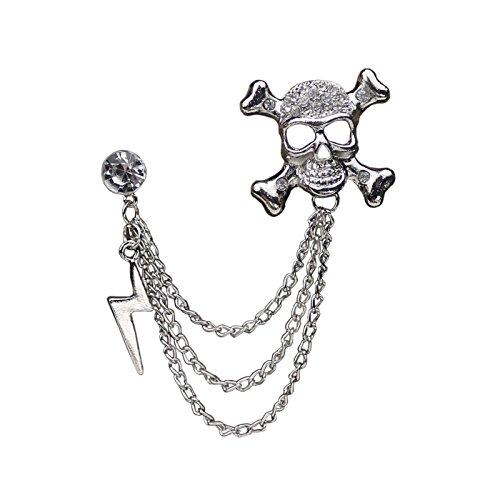 gen Kette Brosche Gold Modeschmuck Für Männer Anzug - Silber (In Voller Größe Skelett Dekoration)