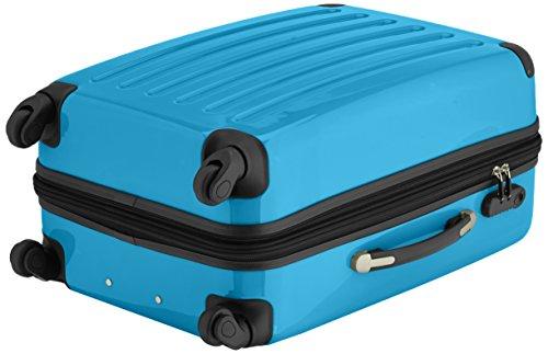 HAUPTSTADTKOFFER - Alex - 2er Koffer-Set Hartschale glänzend, 65 cm + 55 cm, 74 Liter + 42 Liter, Graphit-Blau Titan-Cyanblau