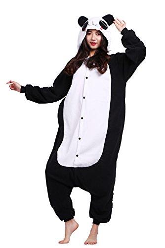 fanzug Erwachsene Unisex Tier Karton Halloween Kostüm Sleepsuit Cosplay Pyjama Panda - S (Adult Halloween Kostüm Panda)