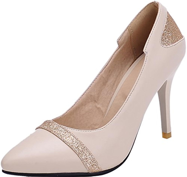 Calaier Femme Jtabh 9CM Aiguille Glisser Sur Sur Glisser Escarpins ChaussuresB072FTJ8J5Parent 5eb093