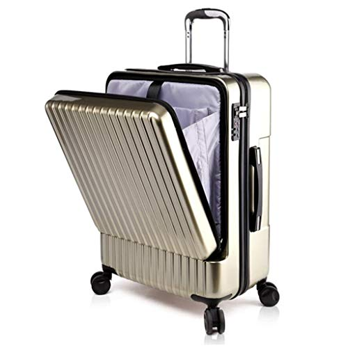 Preisvergleich Produktbild Koffer Kofferraum Kofferraumöffnung Kofferraum Universal Rad Passwort Reisesendung Unisex 3 Farben MUMUJIN (Farbe : Champagner,  größe : 24 inches)