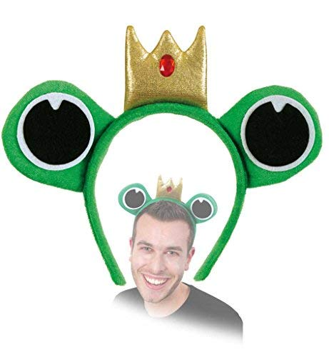 Märchen Kostüm Kopfbedeckung - KarnevalsTeufel Haarreif Froschkönig Märchen Kopfschmuck