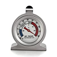 FACILLA® Stainless Steel Dail Thermometer for Refrigerator Fridge Freezer