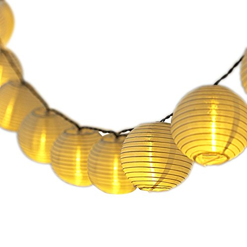 GDEALER lichterkette batterie 7.5 M 30 Lampions 8 Modus Wasserdicht Batteriebetriebene Laterne LED Lichterkette außen für Garten Patio Zimmer Weihnachten Halloween Hochzeitsdekoration
