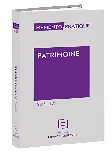 Mémento Patrimoine 2015-2016