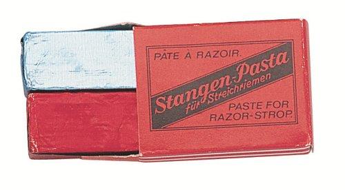 Nc - 9501 - Etui 2 Bâtons Pate à Rasoir Double - Rouge pour Aiguisage et Bleu pour Polissage