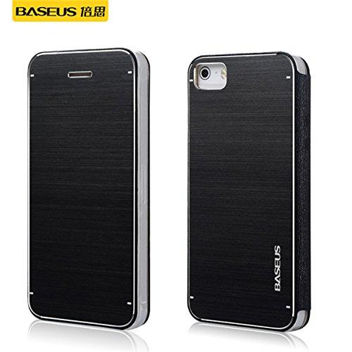 Metal Case BASEUS New Noble Aluminum Hard Cover TPU pour Apple iPhone 5 5S Ternir