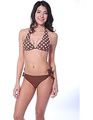 Winkee 40151 rueckenfrei Triangle Push-up Bikini set Neckholder