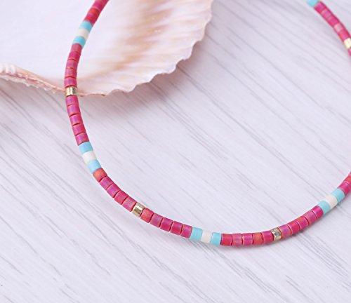 KELITCH Armband MischFarbe Rocailles Perlen Zart Schnur Freundschaftsarmbänder für Mädchen Damen - #09
