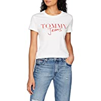 Tommy Jeans Dw0Dw05265 T-Shirt For Women - Bright White, Size Medium