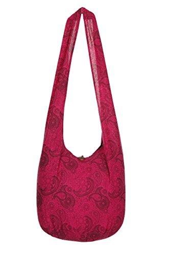 ThaiUK , Damen Schultertasche, Rosa (Tie-dye-sling)