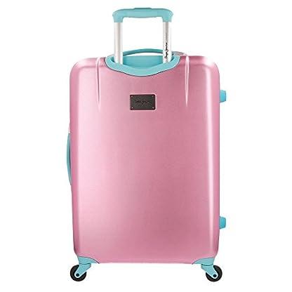 Pepe Jeans Bristol Juego de maletas, 204 litros, 77 cm, Rosa