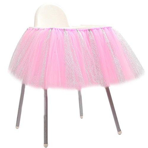 Lanlan 91,4x 35,6cm 1st Birthday High Chair Tüll Tisch Rock perfekt für Baby Geburtstag Party Dekoration