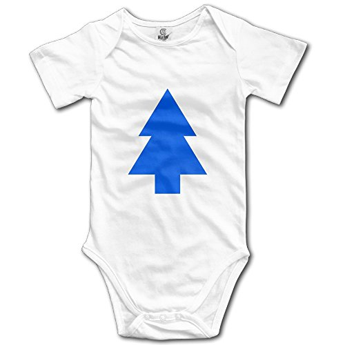 Dippers Blue Pine Tree Baby Onesies Baby Outfits -  Black -
