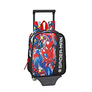 Spiderman Mochila guardería niño con carro, trolley