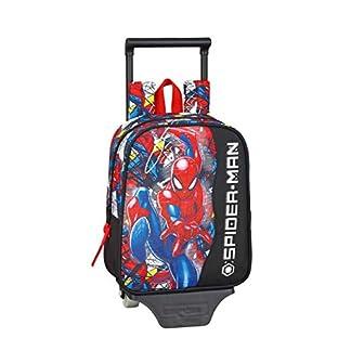 Spiderman «Super Hero» Oficial Mochila Guardería Con Carro Safta, 220x100x270mm
