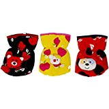 Sharma Clothing-New Born Baby Feeding Bottle Cover Cotton Fabric Apple Print Printed Bottle Cover Baby Bottle Cover Set Feeder Cover New Born Baby Fancy Bottle Cover Feeder Cover Nursing Cover Pack Of 3 Pcs (125 M.l., Red)