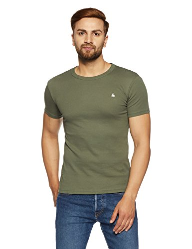 United Colors of Benetton Men's Solid T-Shirt (8903975754287_17A3C78J1205I_Small_Olive)