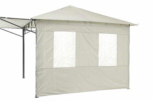 Tepro Seitenteilset für LEHUA und WAYA hellgrau Pavillon Garten terasse Camping 5515