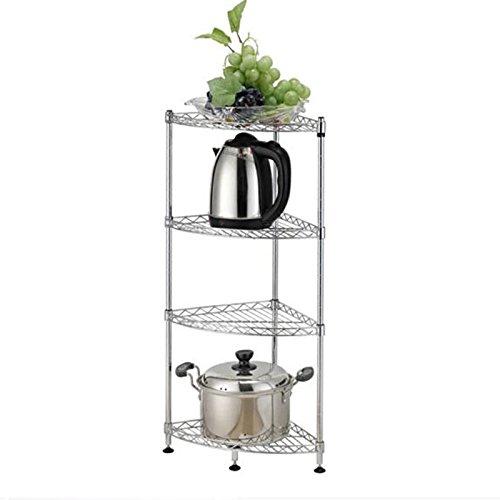 Unbekannt Corner Rack Küchenregal WC Pan Frame Vierstöckiges Stativ Floor-Shaped Regal mit 4 Schichten Tubule Winkelrahmen
